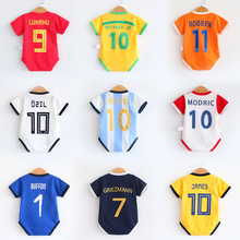 f9fad0bbb Baby World Brazil Germany France Spain 2018 Football Team Clothes Infant  Boy Summer Short Romper Toddler