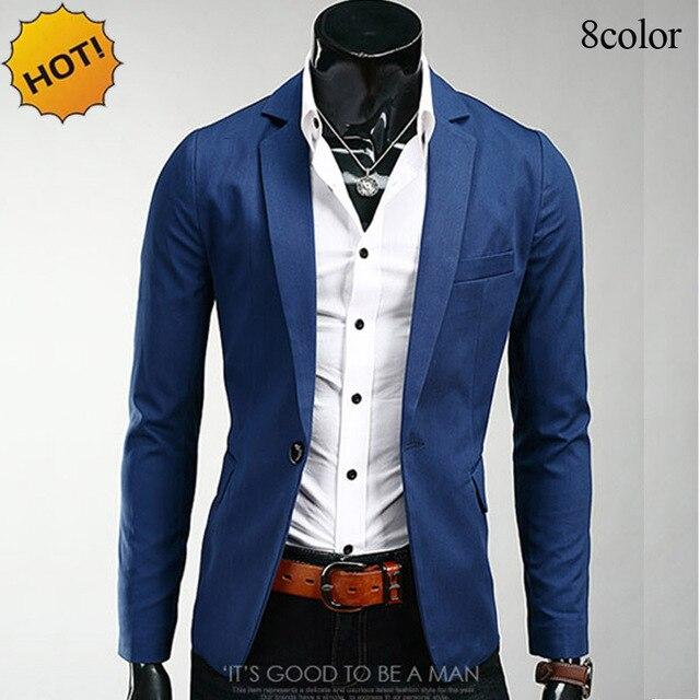 028239724e09 Di modo 2019 di Autunno della Molla Slim Fit Casual marchio di abbigliamento  monopetto suit jacket