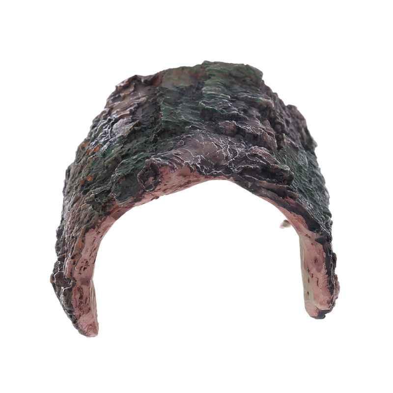 Для вивария для рептилий скрытый чехол змея Gecko дракон половина журнала скрыть рок Дерево отверстие