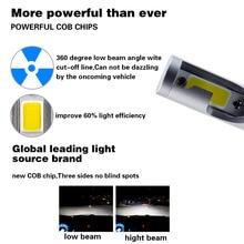 2Pcs Super Bright H7 H4 Led H11 H1 H8 H11 Bulb 72W Headlights Auto Led Lamp With Fan Car Led Light 6000K White 12V Automobile AJ