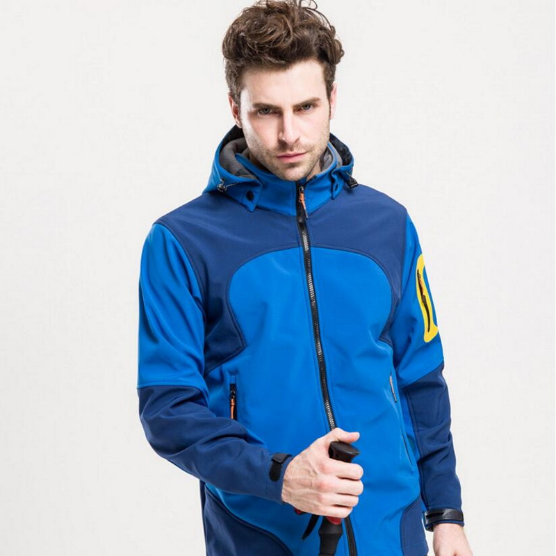 Outdoor mountaineering camping hiking ski fishing clothes, soft shell clothing single layer light technology warm charge cloth