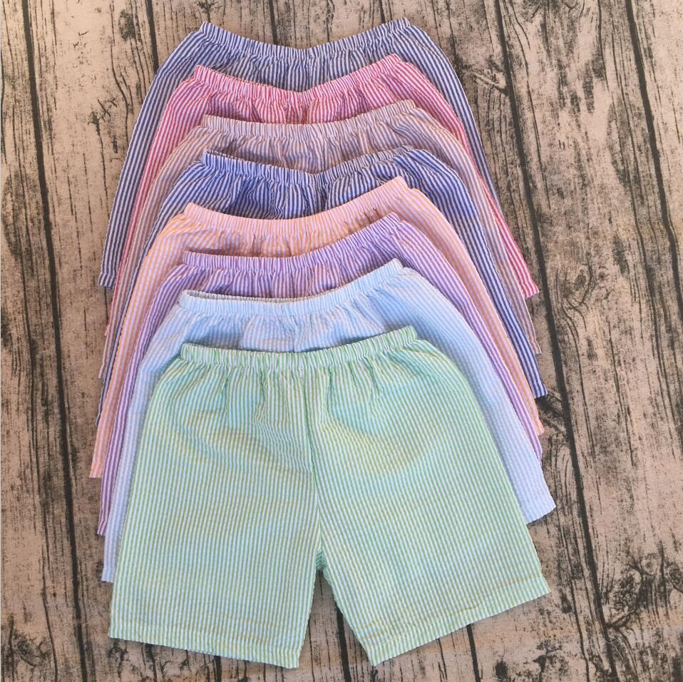 6bc8ade41 New brand 2017 boys shorts baby clothing seersucker beach shorts  comfertable soft cotton multicolor optional
