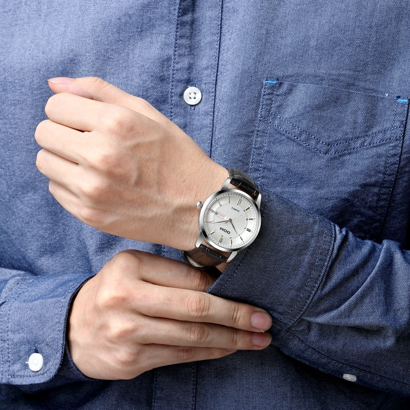 DOM Для мужчин часы Топ Luxury Для мужчин аналоговые кварцевые часы Полный календарь