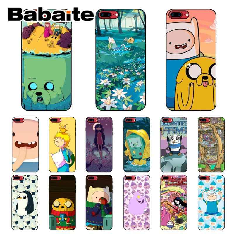 Babaite Adventure Time กับ Finn และ Jake Custom Photo Soft สำหรับ iPhone 8 7 6 6 S Plus 5 5 S SE XR X XS MAX Coque Shell
