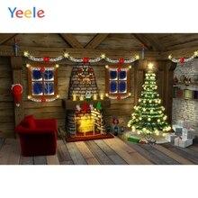 Yeele Vinyl Christmas Tree Sofa Fireplace Children Party Photography Backdrop Customized Photographic Background Photo Studio sjoloon christmas photography backdrops christmas tree photographic background snow photo backdrop fond photo studio vinyl props
