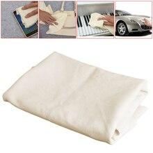 Nuevo 1 ud. 50*80CM gamuza natural gamuza cuero toallas para limpiar coches secado y lavado de tela para el cuidado de la pintura del coche