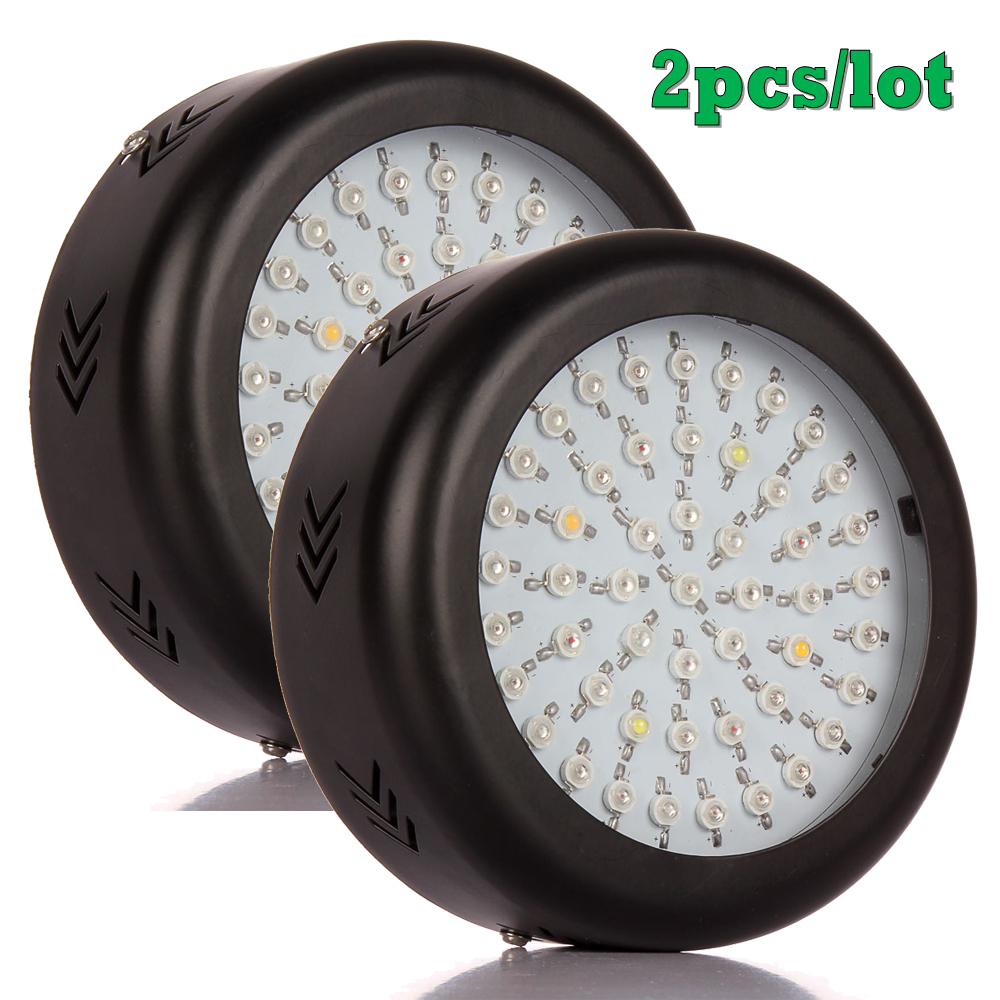 ФОТО 2pcs Newest UFO 150W Led Grow Light Full Spectrum 50X3W Led Chip Plant Growing Lamp for Flower Vegetables, Express Free Shipping
