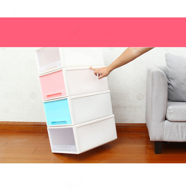1PC New Thickened Single Layer Plastic Drawer Storage Box Organizer Solid Toys Shoes Storage Box Case Combined Drawer OK 0455