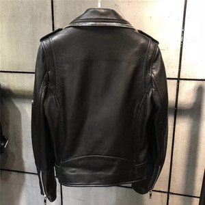 Image 2 - レディース本革ジャケット女性品質本革ジャケット moto & バイカーレザージャケット