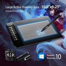 """Nowy UGEE M1000L Art Grafika Długopis Rysunek Cyfrowy Tablet Ultra Cienką Duży Obszar Aktywny 10 """"x 6.2"""" pióra podpis PC Laptop"""