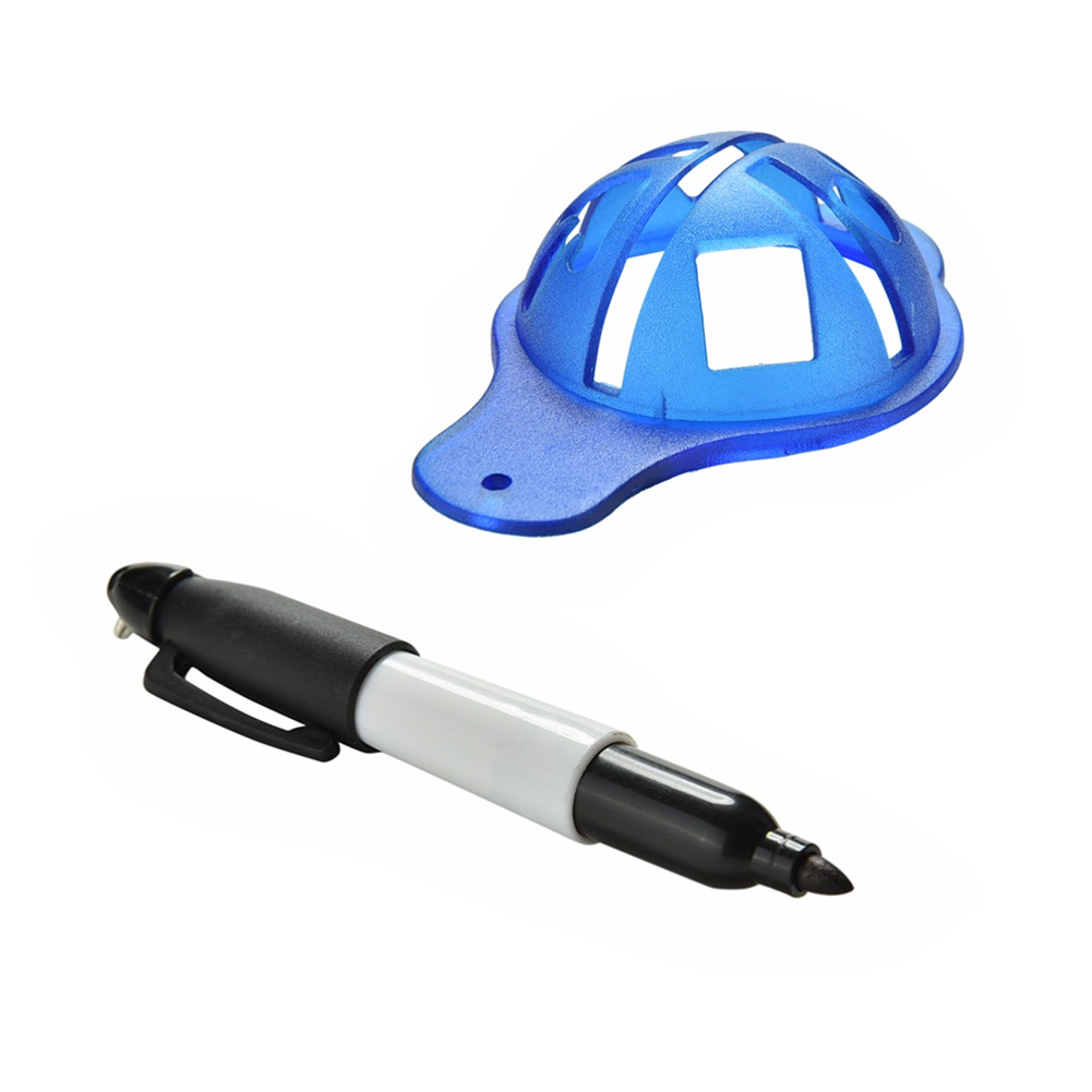 1Set Styrene - butadiene Copolymer Golf Ball Liner Marker Tool + Marker Pen Training Golf Accessories Practice Set