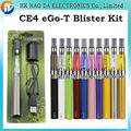 Ce4 ego t Blister kits 650 mah 900 mah 1100 mah ego t batería CE4 e cigarette liquid vaporizador cigarrillo eléctrico ego e cig kit