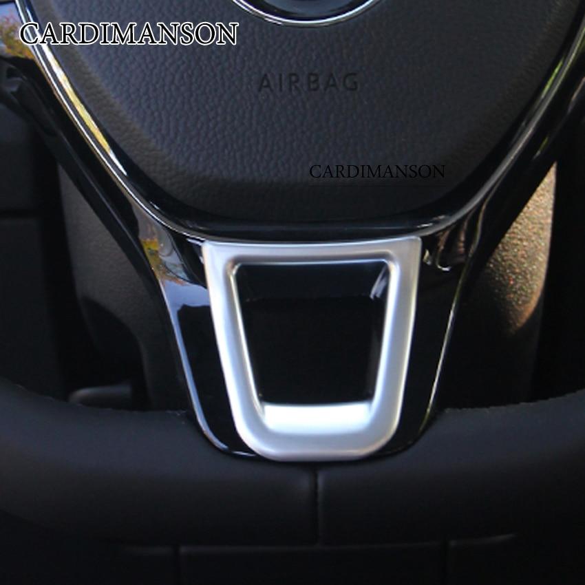 Car Steering Wheel Chrome Trim Decoration Cover for Volkswagen VW Golf MK7 Jetta MK5 MK6 2015 Polo 2014-2015 Passat B7 2015