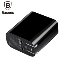 Baseus 22.5W US Plug USB Charger Travel Wall Adapter Protable Mobile Phone For iphone X Samsung 2.4A