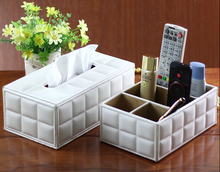 Fashion home leather tissue box fashion lace table napkin pumping paper fabric wood