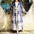 Capa de la mujer 2016 Otoño E Invierno Chaqueta de Abrigo de La Vendimia Nacional Tendencia Diseño Original de Las Mujeres Tótem Dragón Impreso Cardigan
