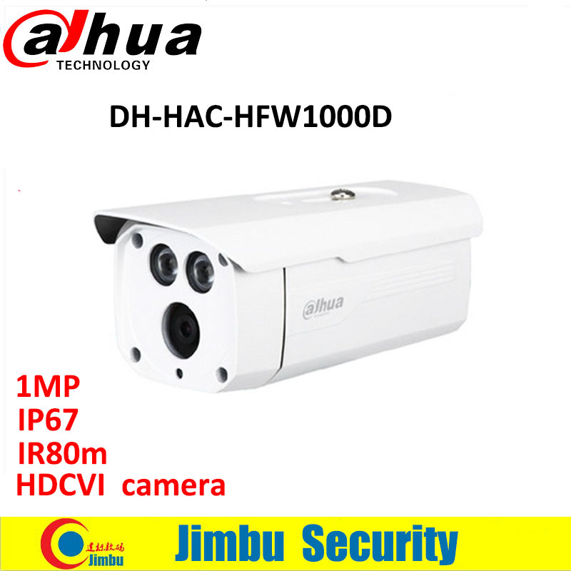 Dahua 1MP 720P Water-proof IP67 HDCVI camera IR-Bullet Camera DH-HAC-HFW1000D Free Shipping 2016 dahua hac hfw2220e 2 4m 1080p ip67 water proof hdcvi ir bullet camera english firmware 2016 hot sale free shipping