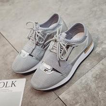 봄 가을 캐주얼 여성 신발 새로운 캔버스 메쉬 장식 조각 디자인 스포츠 패션 편안한 레이스 낮은 뒤꿈치 여성 단화