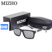 MIZHO Brand Designers High-End Sunglasses Women Polarized Luxury Boutique Acetate Frame UV Polaroid Lens Rectangle Glasses Men