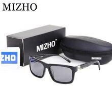 MIZHO Brand Designers High-End Sunglasses Women Polarized Luxury Boutique Acetate Frame UV Polaroid Lens Rectangle Glasses Men
