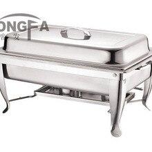 Нержавеющая сталь жаровня блюдо буфет квадратная форма