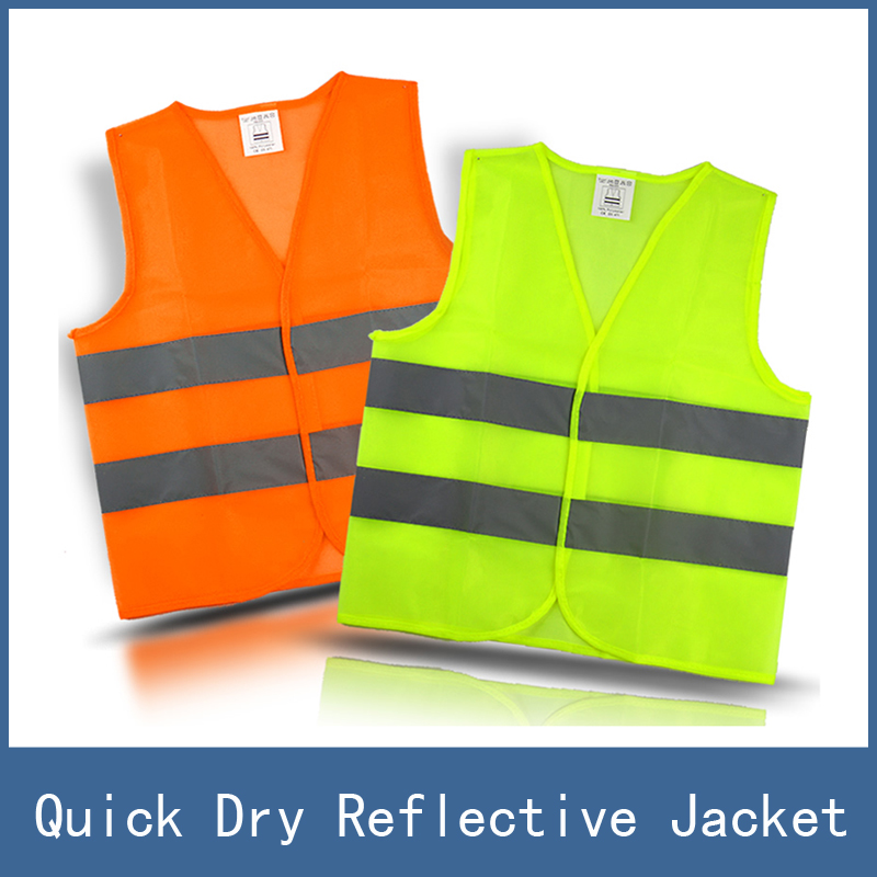 5pcs High Visibility Night Working Protection Clothing Reflective Safety Vest Jacket , Traffic Work Cleaner Chaleco Reflectante cycling reflective clothing reflective vest safety clothing to road traffic motocross body armour protection jackets