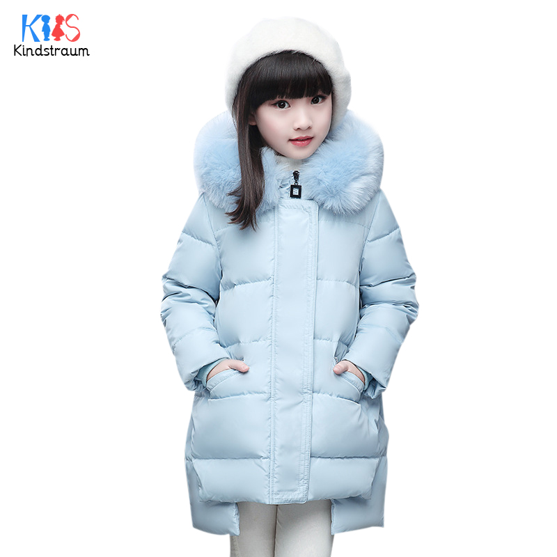 ФОТО Kindstraum 2017 New Girls Solid Thermal Coats Top Quality Children Thick Down Pockets Jacket Winter Hooded Parkas for Kids,RC867