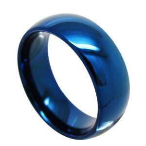 Image 2 - Ygk jóias 4mm/6mm/8mm cúpula azul anel de tungstênio clássico conforto ajuste design novo anel de presente de noivado de casamento masculino