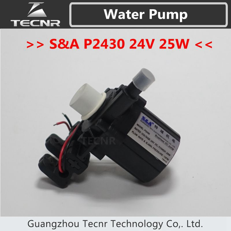S&A Brushless DC Pump P2430 24V voltage 25W watt 8.5L/min 13PSI for industrial Chiller CW3000 chiller cw 3000 cw 5200 water pump voltage 24v dc power 30w flow rate 8 5l min head 8 meter
