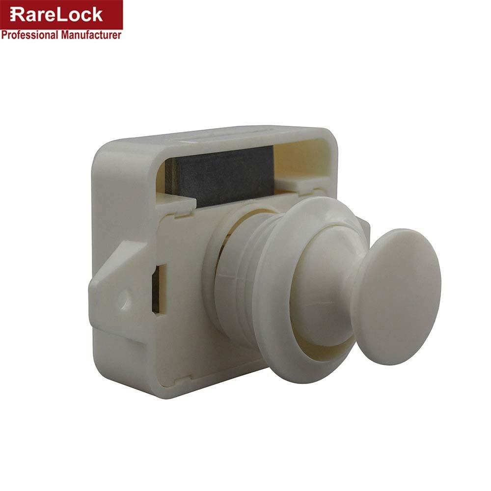 Expressive Rarelock 5pcs/lot Abs Diameter 26mm Mini White Push Catch Push Latch Rv Caravan Motorhome Boat Yacht Push Knob Lock A