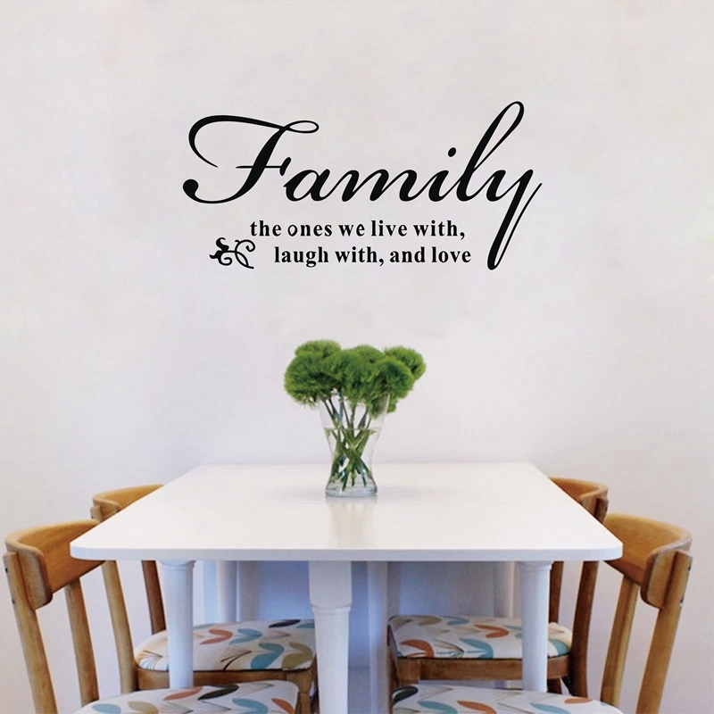 Family Rooms We Love: 72x34cm Family The Ones We Live Laugh And Love Vinyl Wall