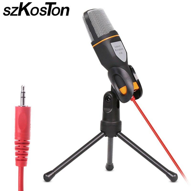 Filaire Microphone Antibruit À Condensateur De Studio Microphone Mic Pour PC Bavarder Ordinateur Portable Skype MSN Oct31 Chant