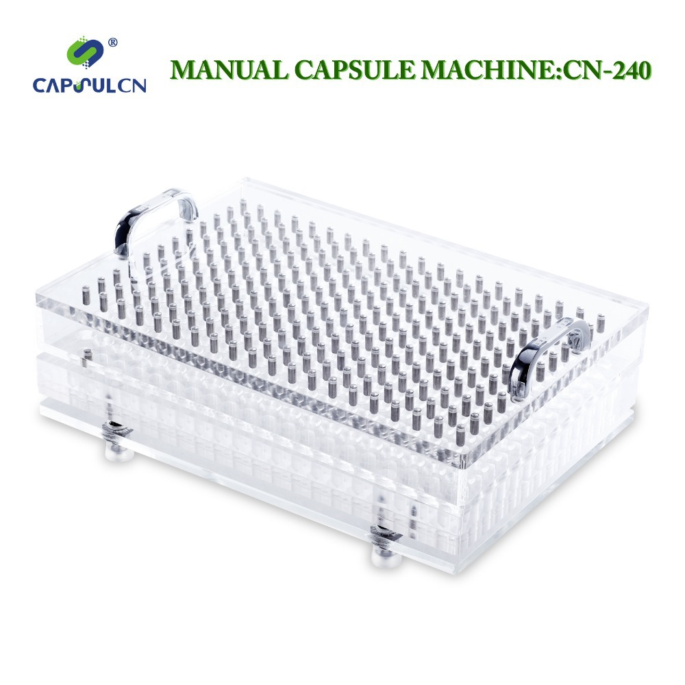 (240 holes) Size 4 CapsulCN240 Manual capsule filler/Capsule Filling Machine/Capsule Capper/ 187 holes manual capsule filling machine tamping tool size 5