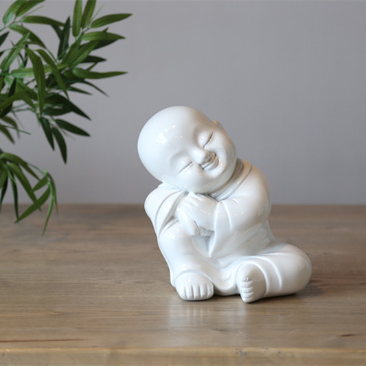 High Quality White China Ceramic Buddhism Statue Craft Home Decor Accessories Chinese Traditional Religious Figurine