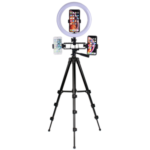 Image 5 - Кольцевой светодиодный светильник 26 см для видеосъемки Youtube, штатив для фото и видеосъемки с держателем для телефона