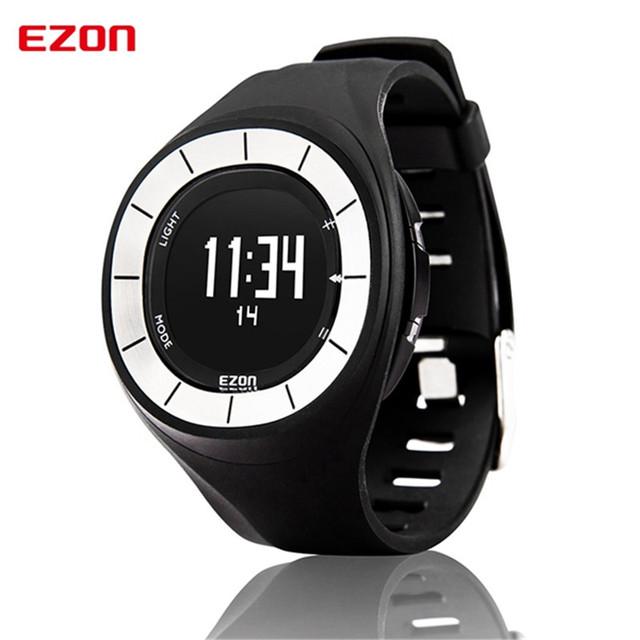 EZON casal ao ar livre correndo dispositivos inteligentes wearable relógios eletrônicos à prova d' água relógio calendário alarme pedômetro sports men watch