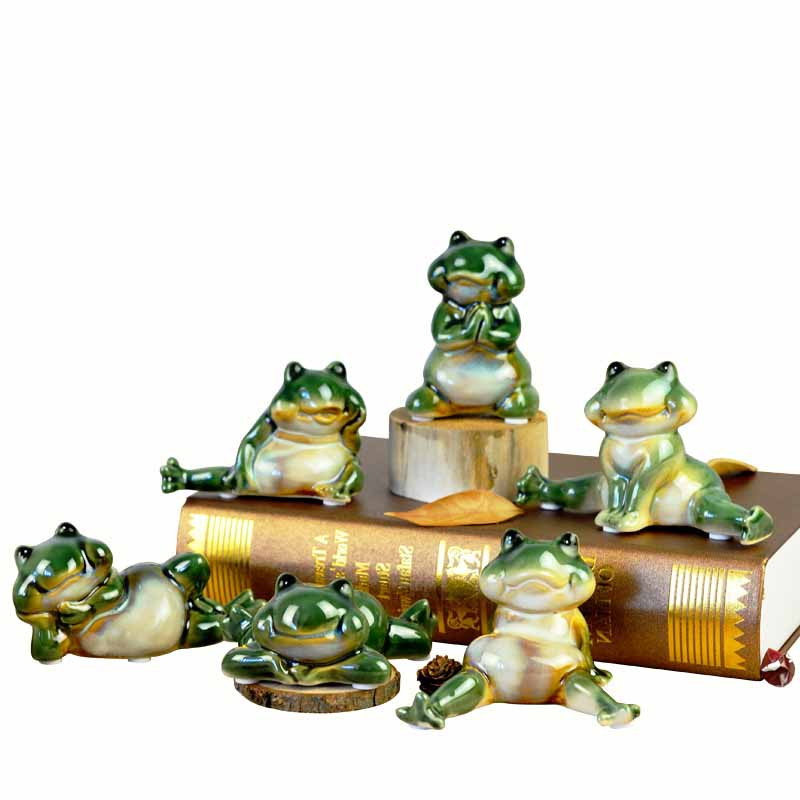 Frog Europe and the United States pastoral creative animal ornaments home decorations living room office