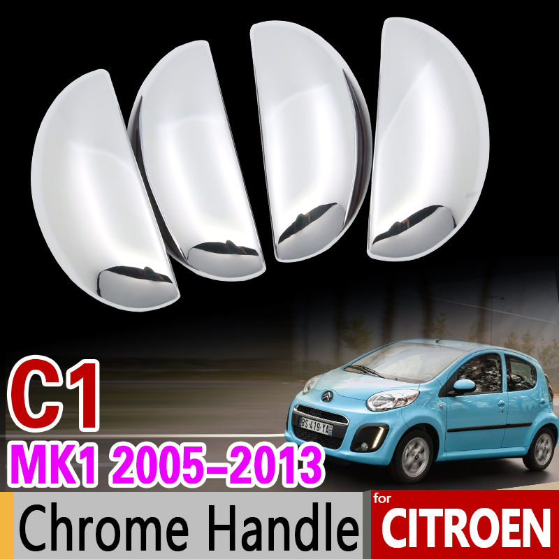 for Citroen C1 MK1 2005-2013 Chrome Handle Cover Trim Set 2006 2007 2008 2009 2010 2011 2012 Car Accessories Car Styling 2Dr 4Dr for toyota isis platana 2004 2015 chrome handle cover trim set 2005 2006 2007 2008 2010 2012 2013 2014 accessories car styling