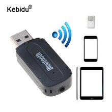 Kebidu Bluetooth AUX sans fil Portable Mini récepteur de musique stéréo Audio pour iPhone Samsung Xiaomi Kit de voiture adaptateur de récepteur de musique