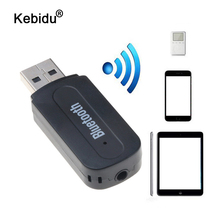 Kebidu minireceptor de música portátil inalámbrico con Bluetooth, Mini receptor de música estéreo para iPhone, Samsung, Xiaomi, Kit de coche, adaptador receptor de música