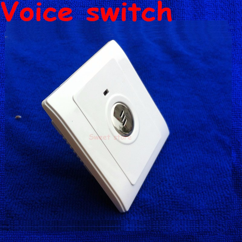Voice switch lamp corridor delay sensor energy saving lamp 86 led sound and light control switch intelligent switch panel 1pc (4)