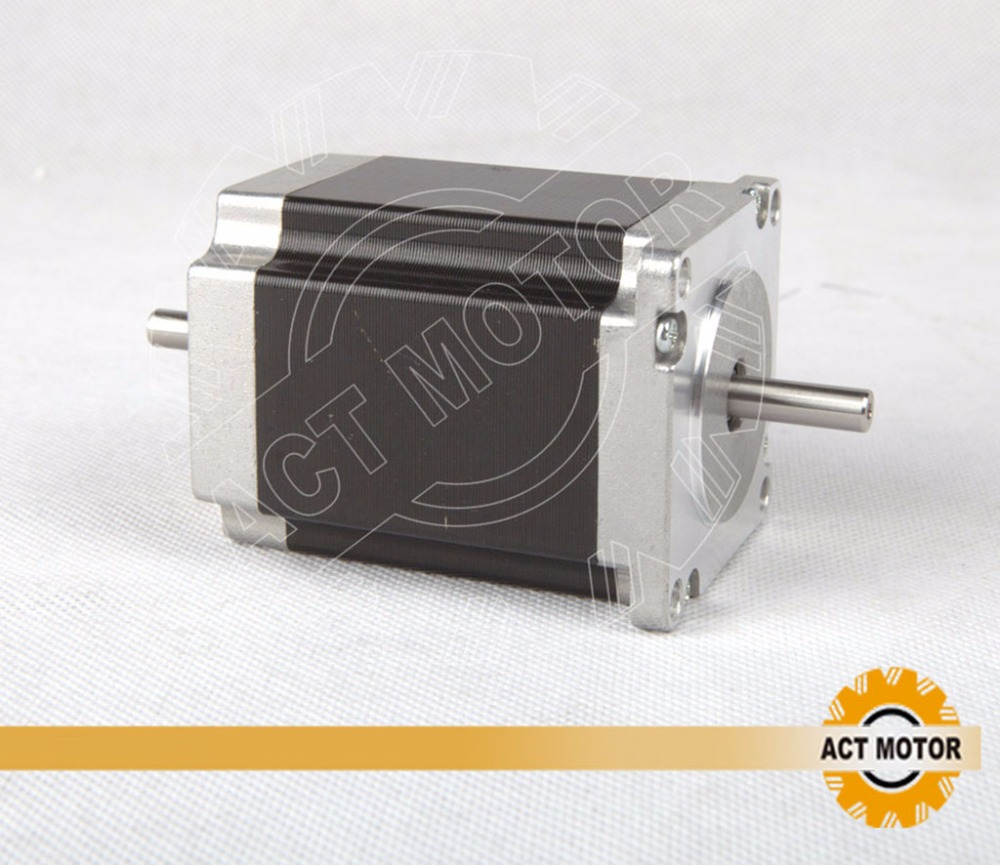 Free ship from Germany!ACT Motor 1PC Nema23 Stepper Motor 23HS8630B Dual Shaft 6-Lead 270oz-in 76mm 3.0A CE ISO ROHS