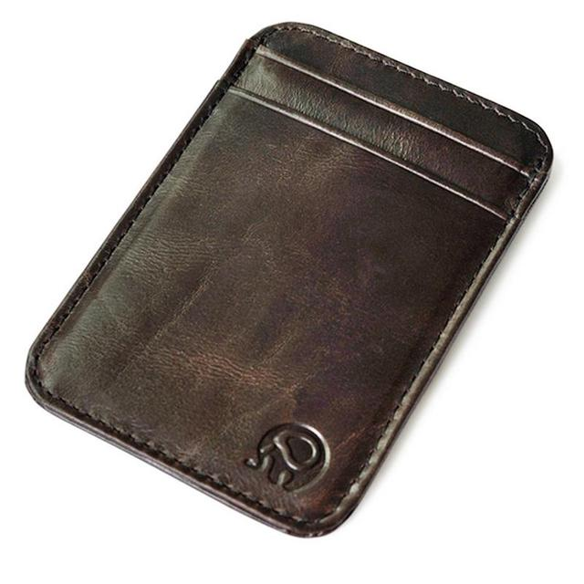 New fashion leather men wallet business card holder bank cardholder new fashion leather men wallet business card holder bank cardholder pickup package bus card holder slim colourmoves Image collections