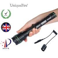Uniquefire 1508 IR 850NM 38mm Lens LED Flashlight Focus Zoom 3 Modes Rechargeable Lantern 18650+Remote Pressure Switch
