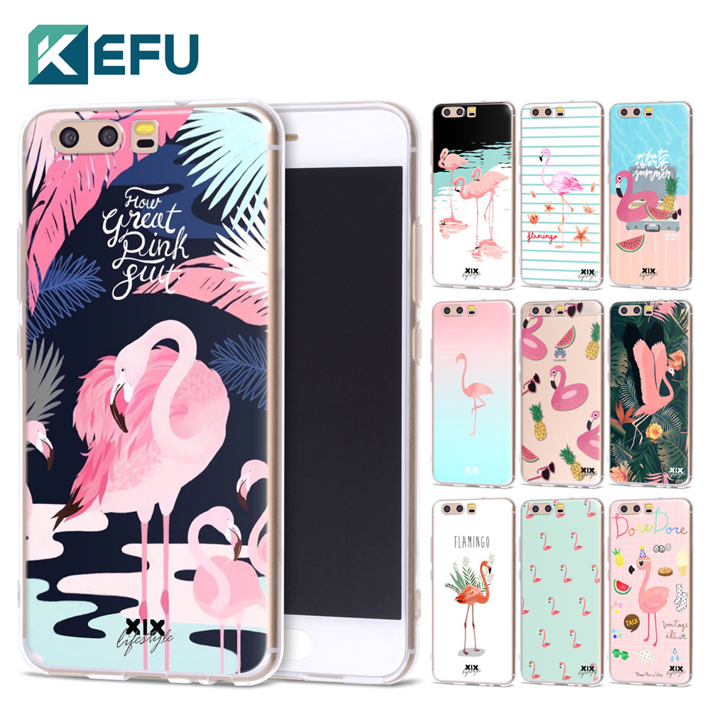 XIX for Funda Huawei P10 Flamingo Soft Silicone TPU for Cover Huawei P10 Case 2017 New Arrivals for P10 Case