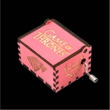 Wood Music Box Game of Thrones Harri Potter Wooden Music Box Pink Antique Carved Wooden Hand Crank Music Boxs Birthday Gift цена 2017