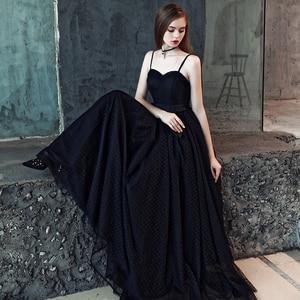 Image 3 - FADISTEE חדש הגעה מודרני מפלגה שמלת ערב שמלות נשף טול Vestido דה Festa שחור סטרפלס דפוס טול ארוך סגנון