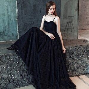 Image 3 - FADISTEE 新到着現代のパーティードレスイブニングドレスウエディングドレス vestido デ · フェスタ黒ストラップレスのパターンチュールロングスタイル