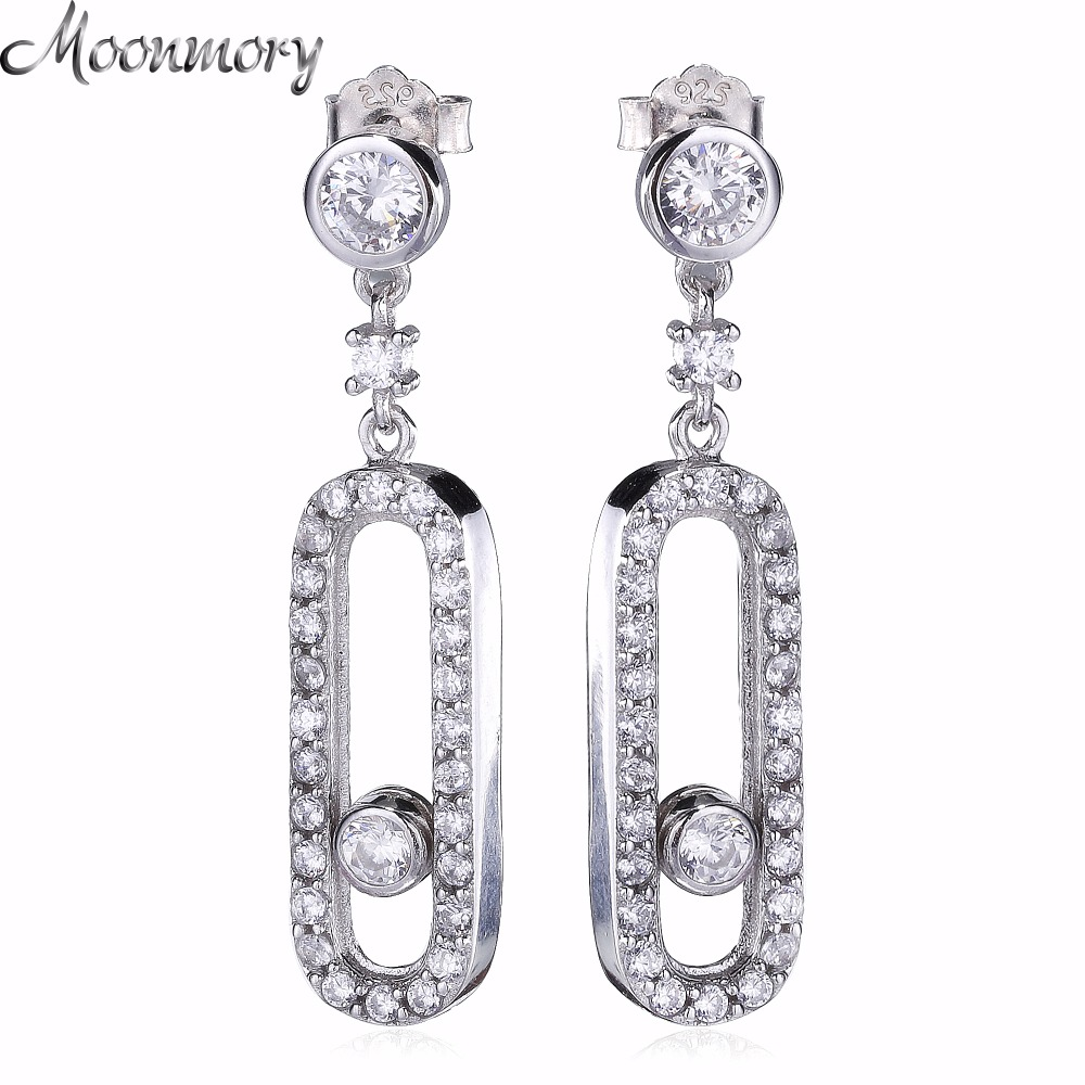 France Hot Sale 925 Sterling Silver Drop Earring For Women Fashion Jewelry Pure 925 Sterling Silver Earring With ZIrcon футболка мужская u s polo assn цвет белый g081gl0110sapco vr013 размер 3xl 56