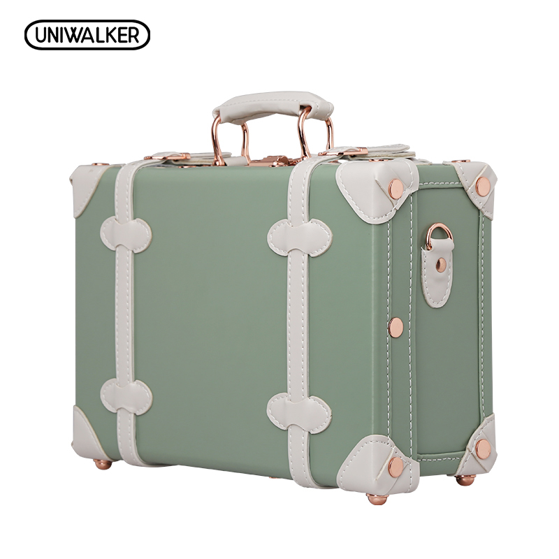 12 matcha green waterproof vintage luggage small suitcase - Vintage suitcase ...
